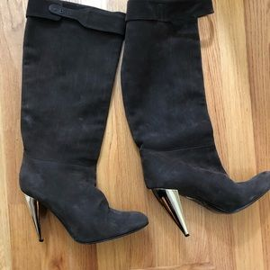 Italian suede leather boots - great condition